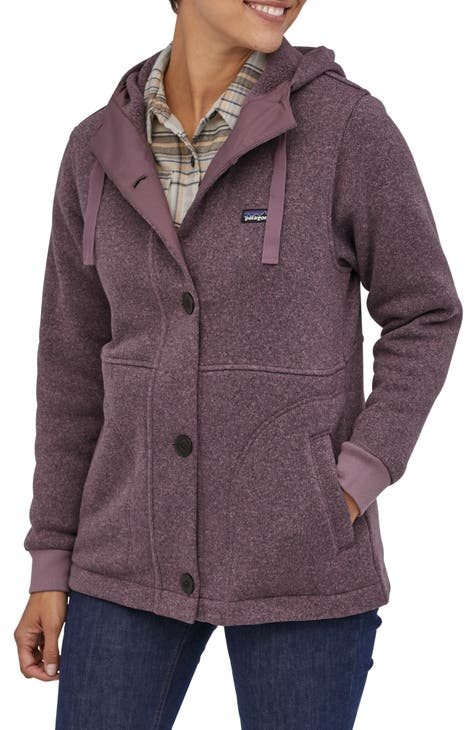 파타고니아 Patagonia Better Sweater Recycled Fleece Hooded Coat,hyssop purple