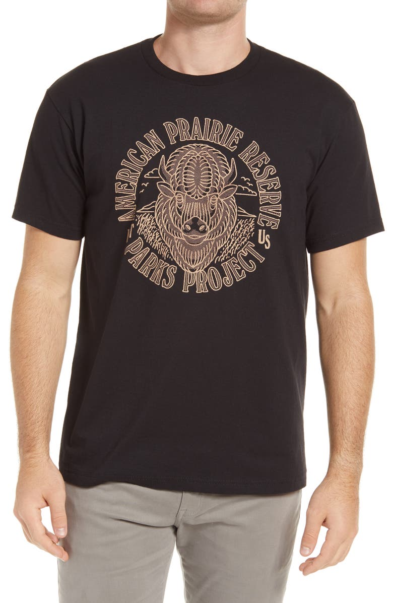 PARKS PROJECT American Prairie Reserve Buffalo Graphic Tee, Main, color, 006