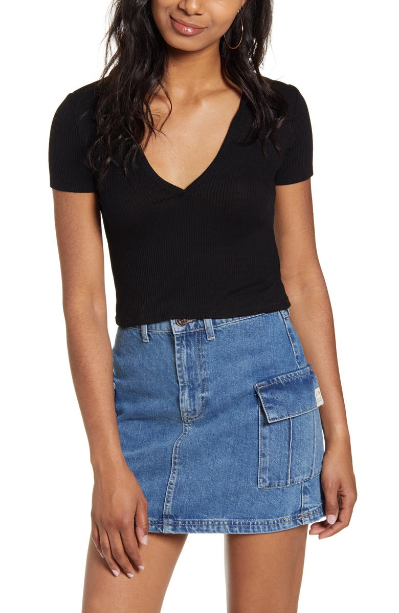 BDG URBAN OUTFITTERS Baby Polo Top, Main, color, 001