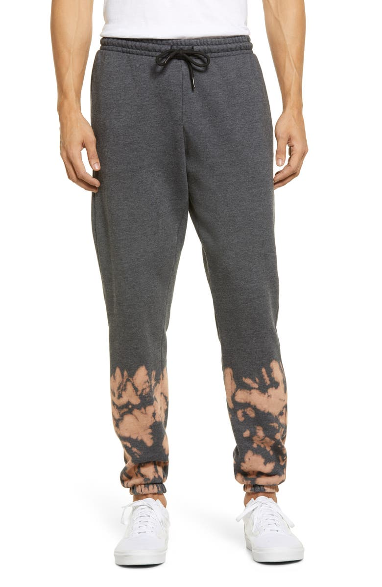 ZELLA Atlas Bleach Wash Jogger Pants, Main, color, BLACK