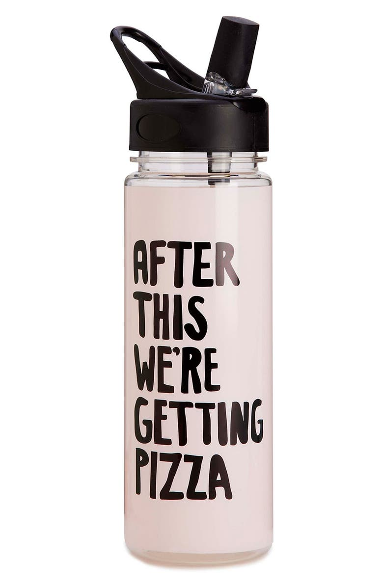 BAN.DO After This, We're Getting Pizza 20-Ounce Water Bottle, Main, color, 650