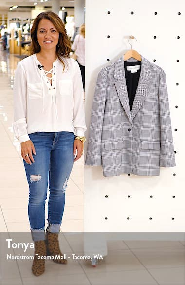 Oversize Patterned Blazer, sales video thumbnail