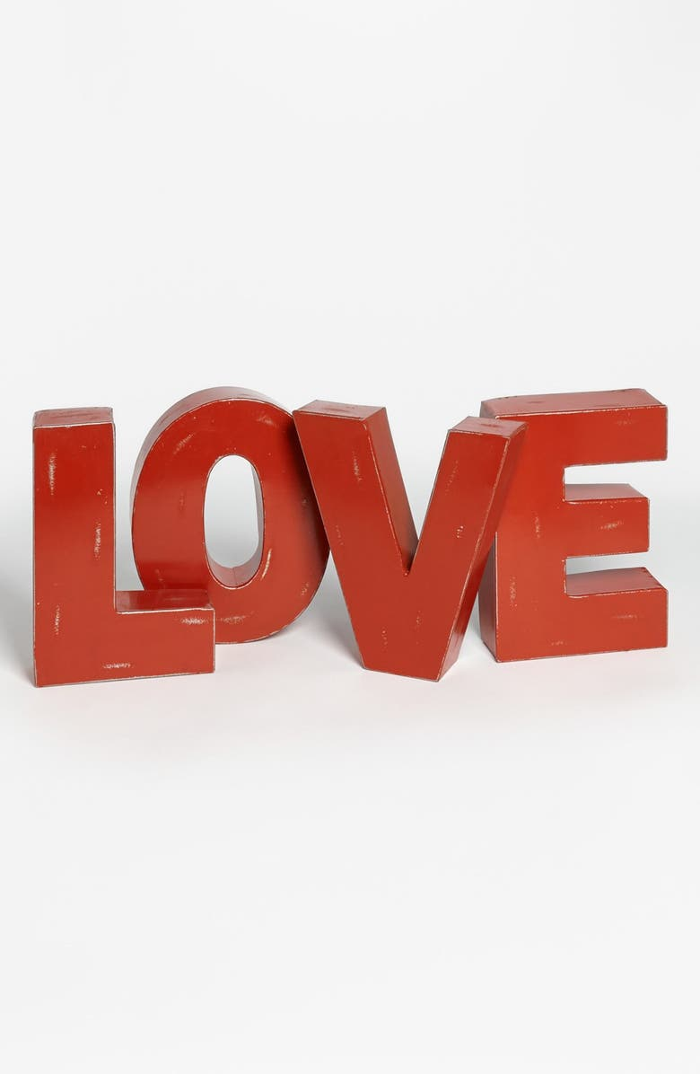 FORESIDE 'Love' Decorative Metal Letters, Main, color, 600