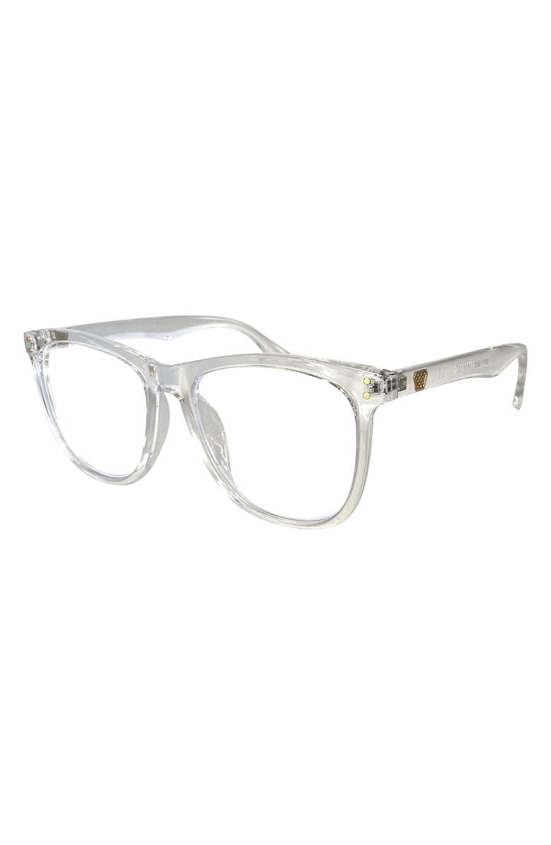 FIFTH & NINTH Mesa 56mm Round Blue Light Filtering Glasses, Main, color, CLEAR