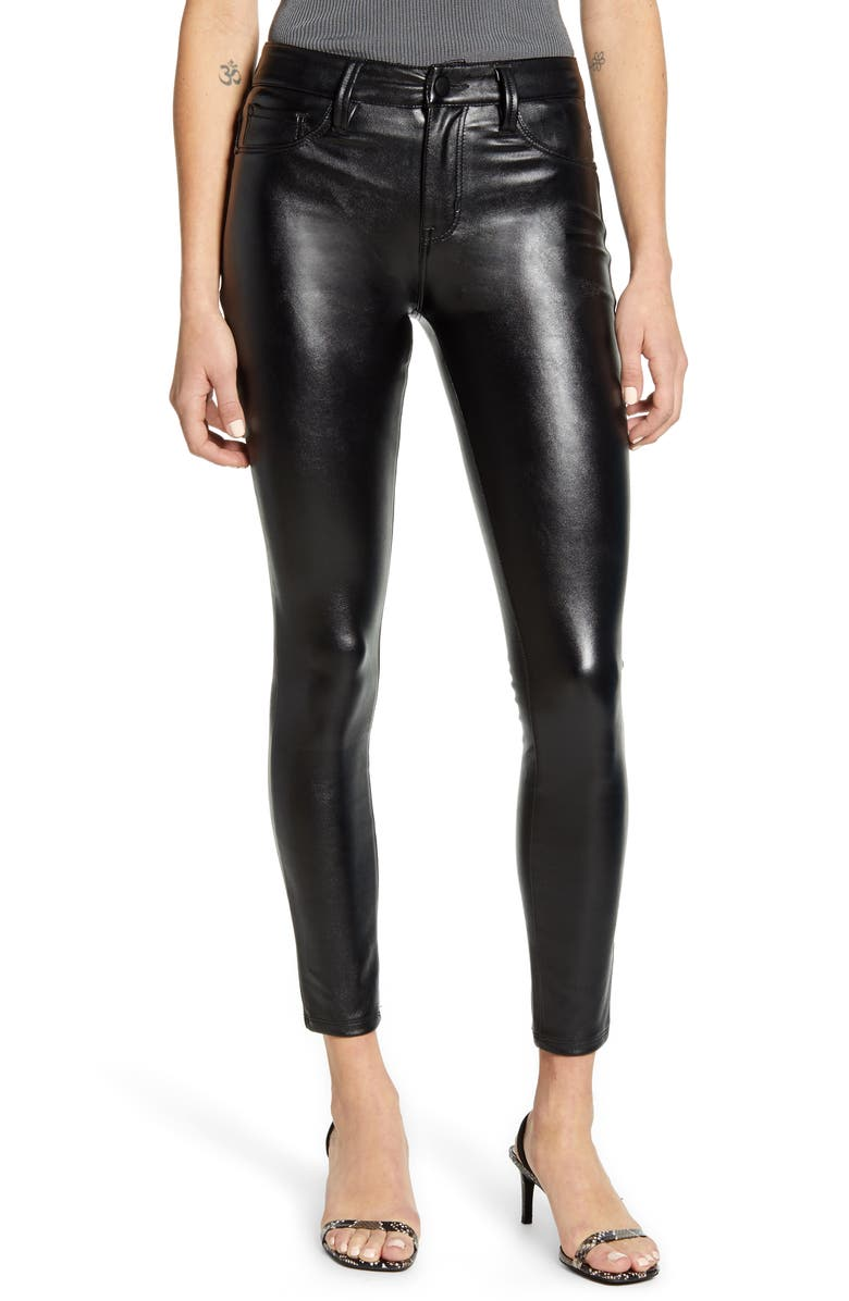 TINSEL Coated Skinny Jeans, Main, color, 001
