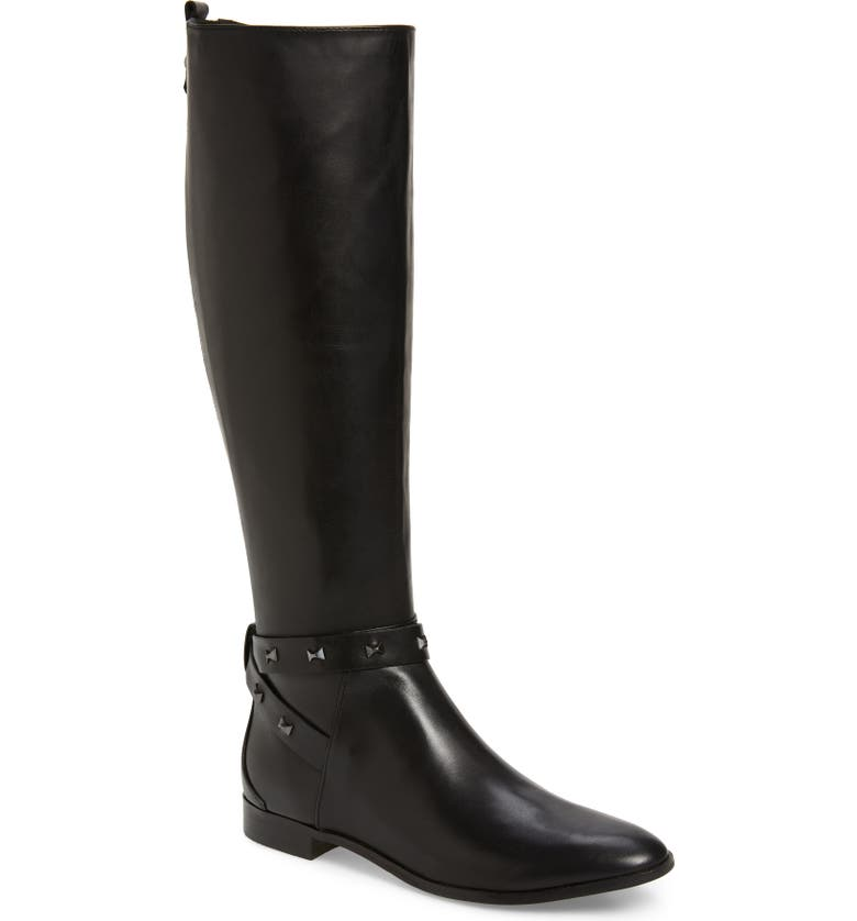 TED BAKER LONDON Plannia Bow Hardware Knee High Riding Boot, Main, color, 001