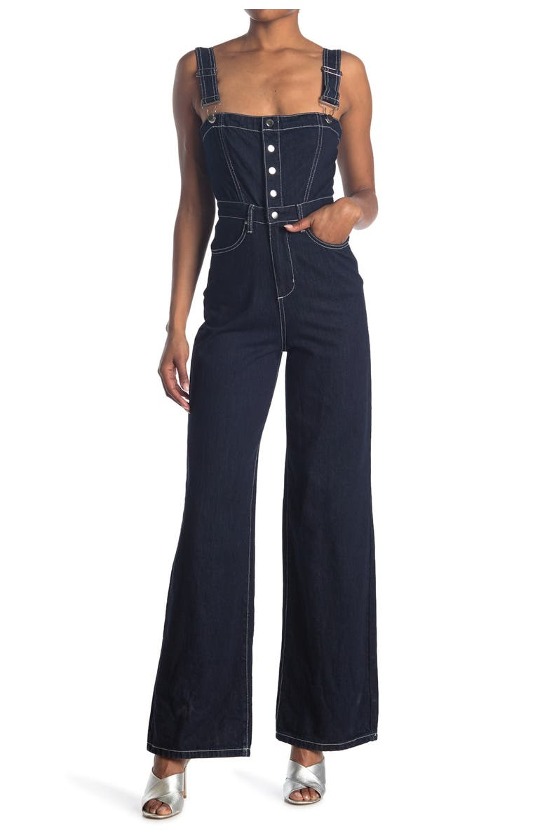 WEWOREWHAT Bustier Jumpsuit, Main, color, RINSE