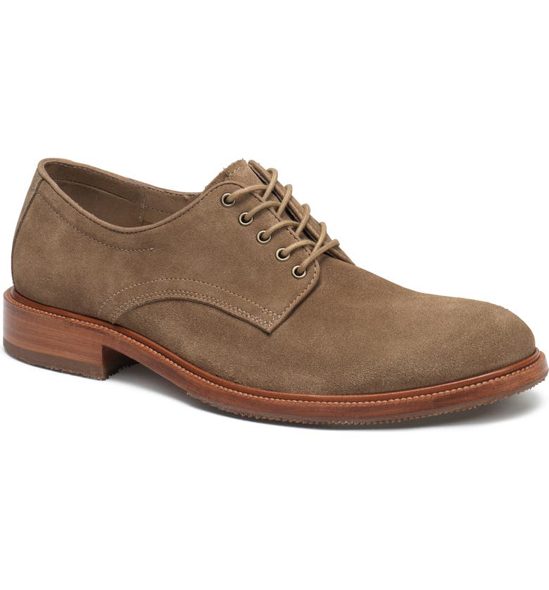 TRASK Landry Plain Toe Derby, Main, color, TAUPE SUEDE