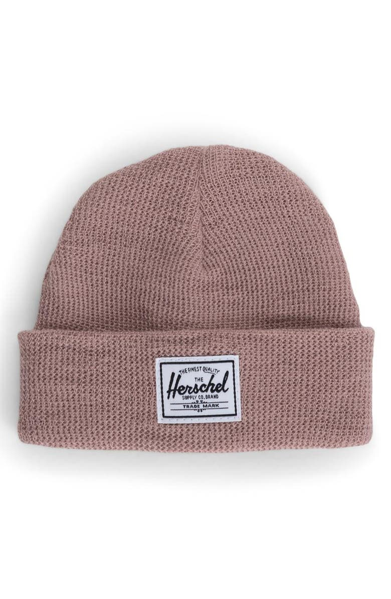 HERSCHEL SUPPLY CO. Sprout Knit Beanie, Main, color, ASH ROSE