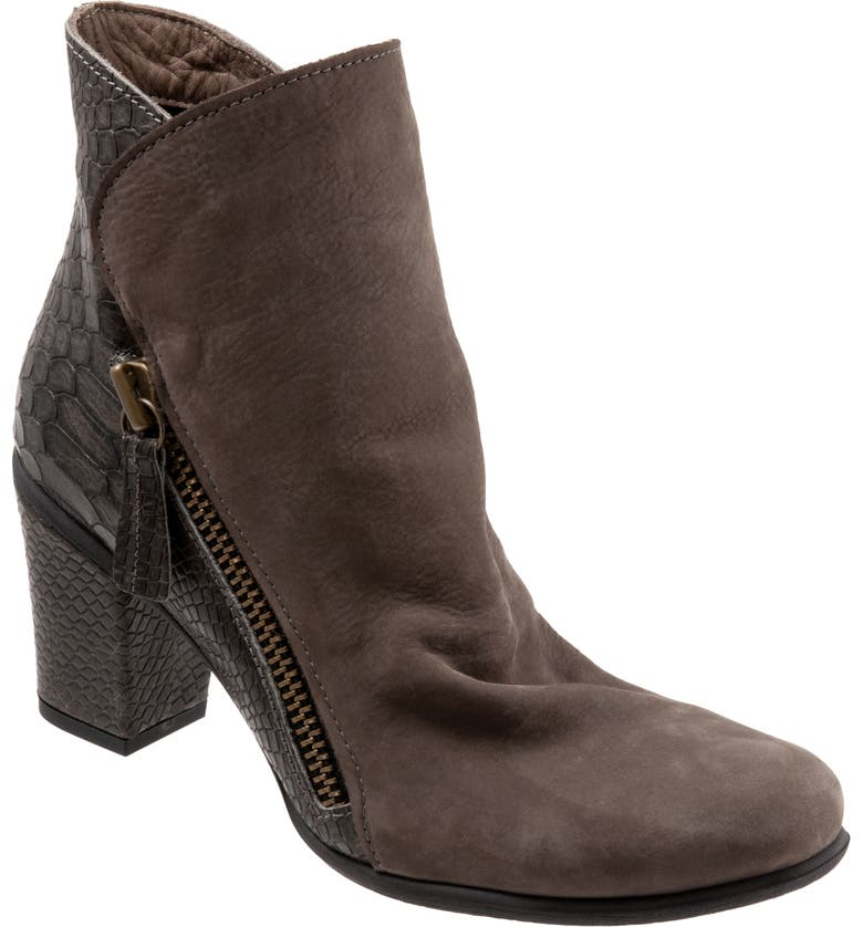 BUENO Yountville Bootie, Main, color, GREY NUBUCK/CROCO