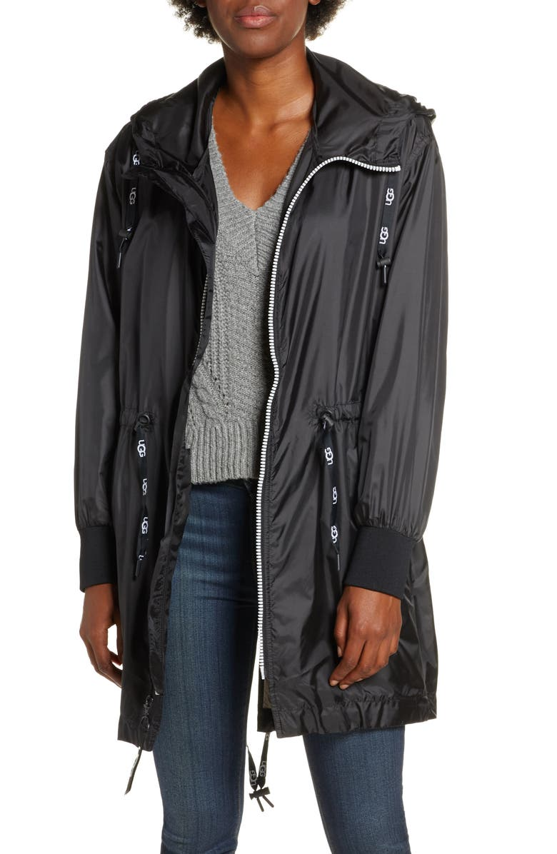 UGG<SUP>®</SUP> Brittany Hooded Water Resistant Parka, Main, color, 001