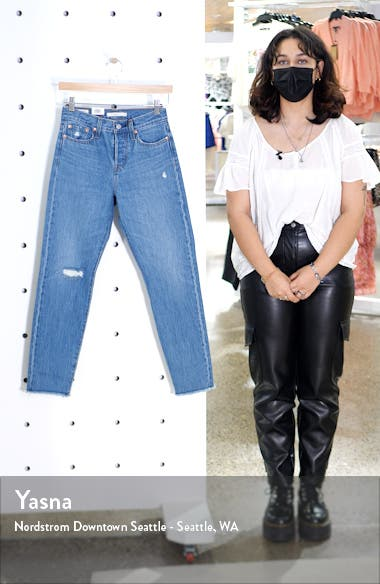 Wedgie Icon Fit High Waist Nonstretch Straight Leg Jeans, sales video thumbnail