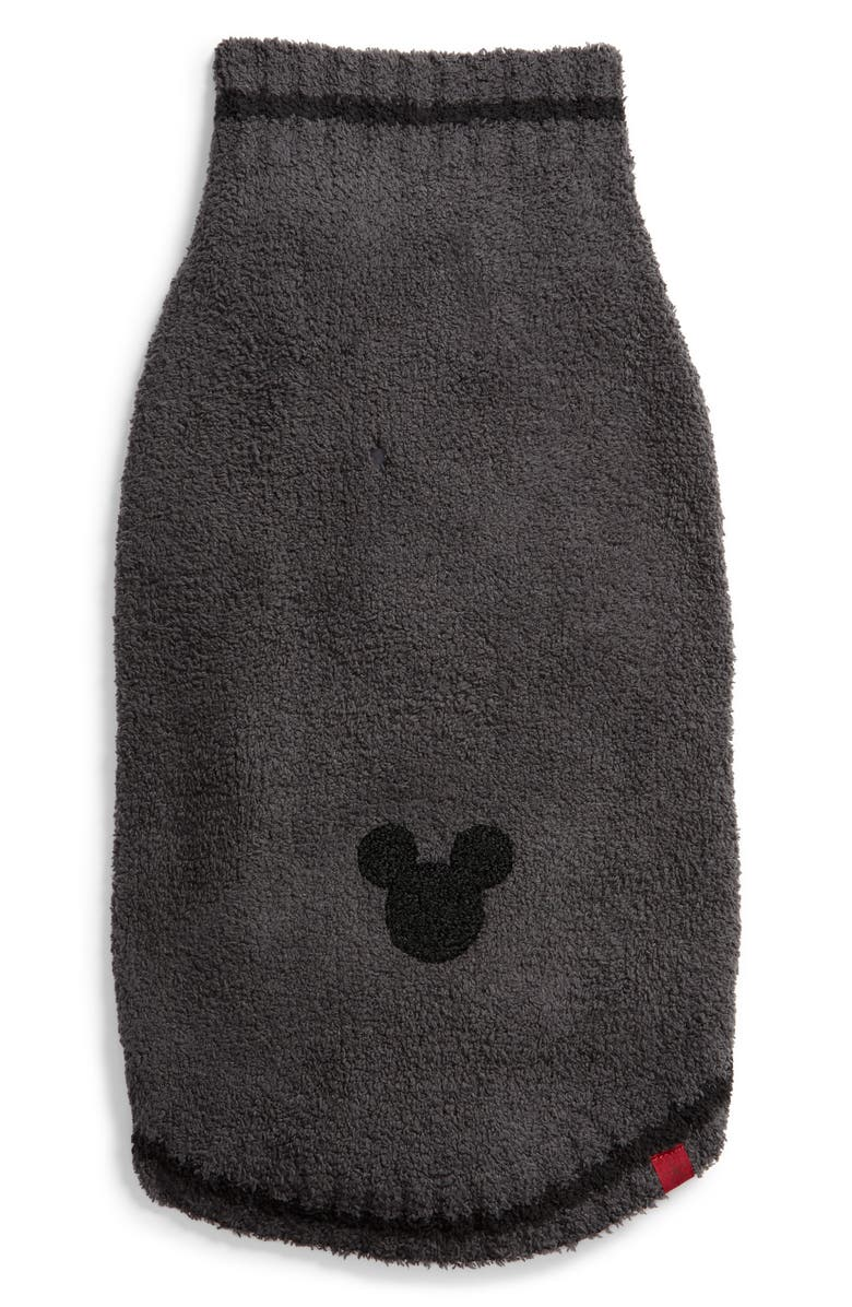 BAREFOOT DREAMS<SUP>®</SUP> x Disney CozyChic<sup>™</sup> Mickey Mouse Pet Sweater, Main, color, CARBON/ BLACK