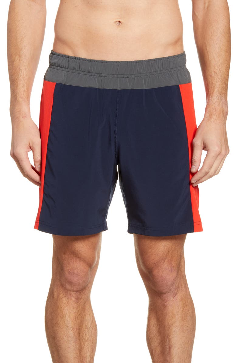 FOURLAPS Bolt 7 Inch Shorts, Main, color, NAVYDNU