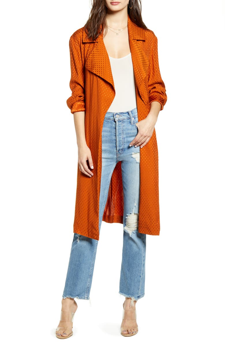 LEITH Dot Soft Trench Coat, Main, color, 210