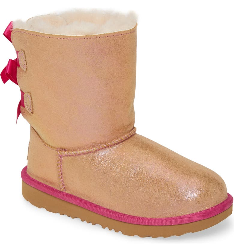 UGG<SUP>®</SUP> Bailey Bow Genuine Shearling Shimmer Boot, Main, color, 688