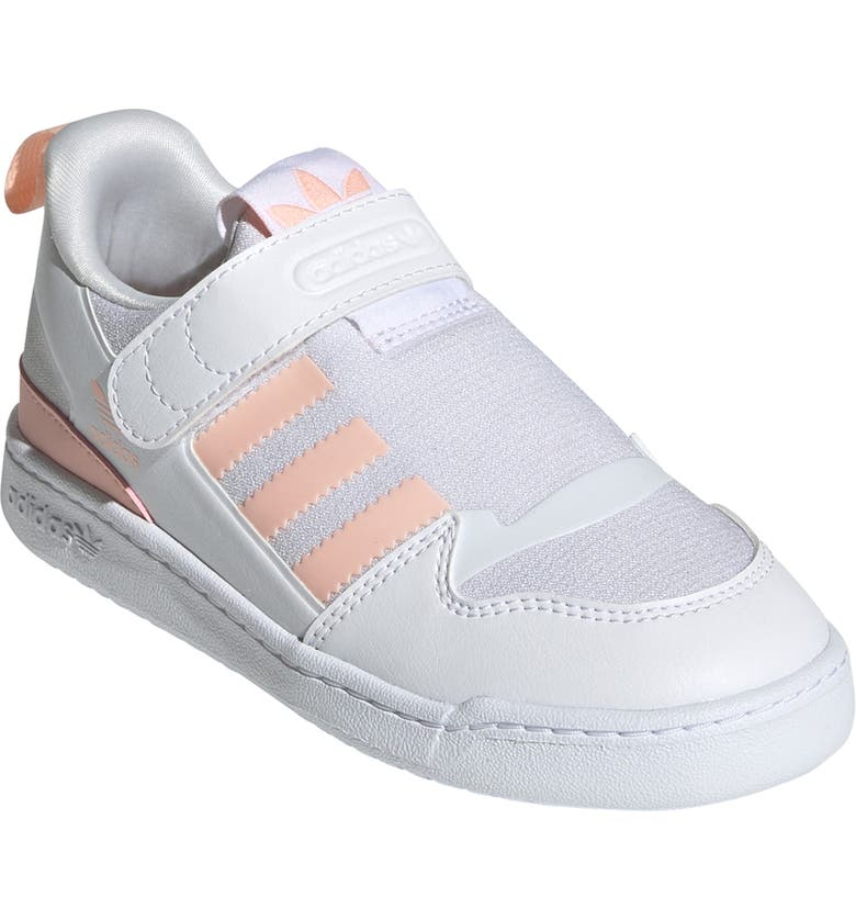 ADIDAS Forum 360 Low Top Sneaker, Main, color, WHITE/ HAZE CORAL/ WHITE