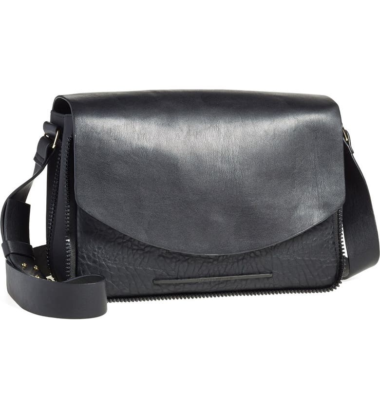 FRENCH CONNECTION 'Saddle' Crossbody Bag, Main, color, Black