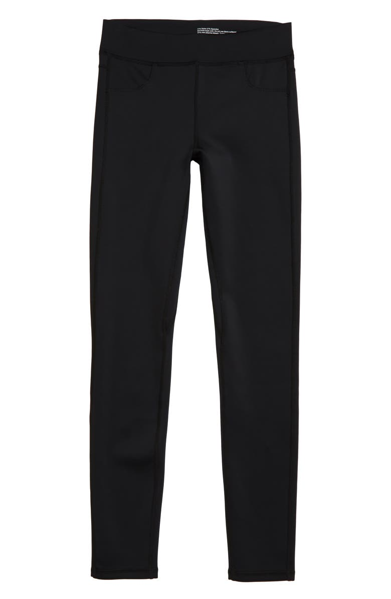 TRACTR Knit Skinny Pants, Main, color, BLACK