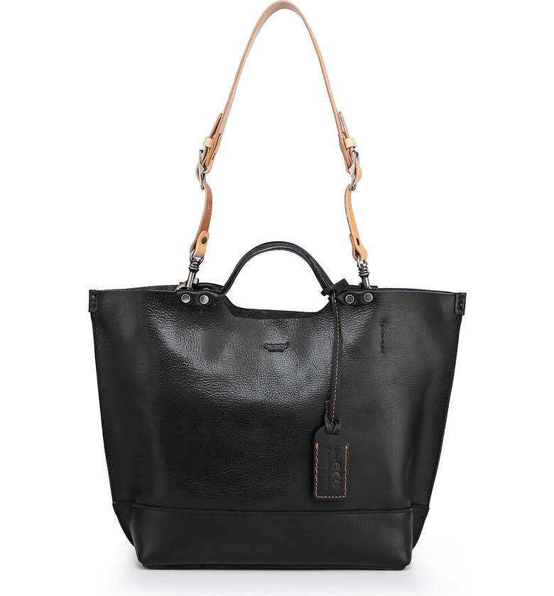 OLD TREND Gypsy Soul Leather Tote Bag, Main, color, BLACK