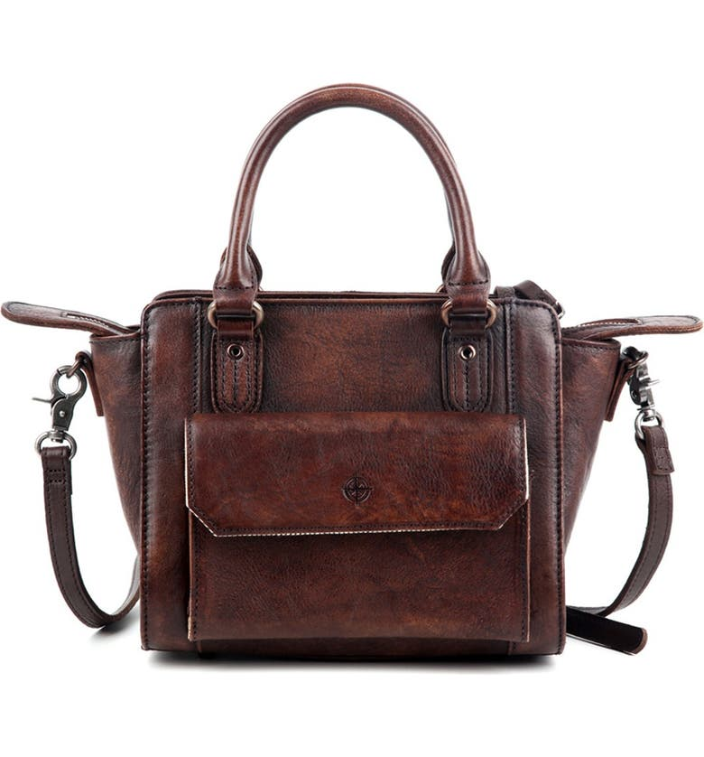 OLD TREND Maya Leather Crossbody Bag, Main, color, COFFEE