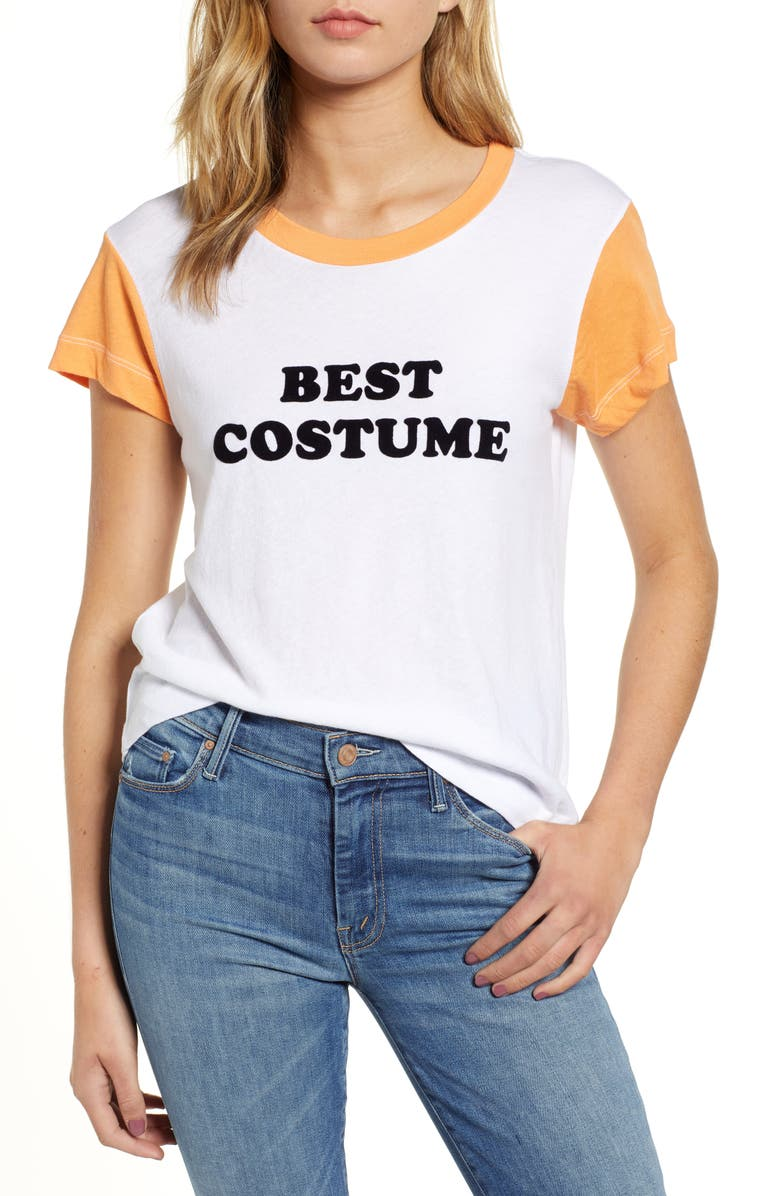 WILDFOX Best Costume No9 Tee, Main, color, CLEAN WHITE/ 1970