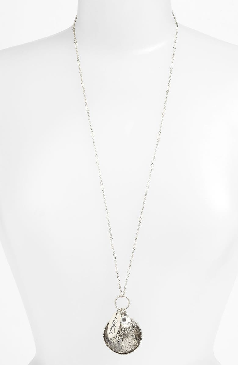 NORDSTROM 'Tinseltown' Long Cluster Pendant Necklace, Main, color, 040