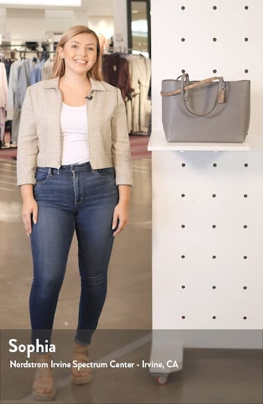 Central Leather & Signature Coated Canvas Tote, sales video thumbnail