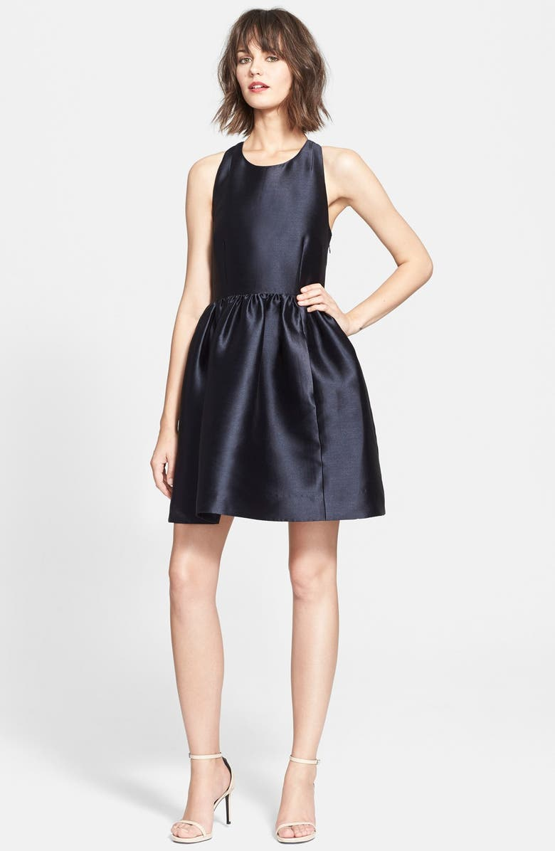 KATE SPADE NEW YORK bow back fit & flare dress, Main, color, 473