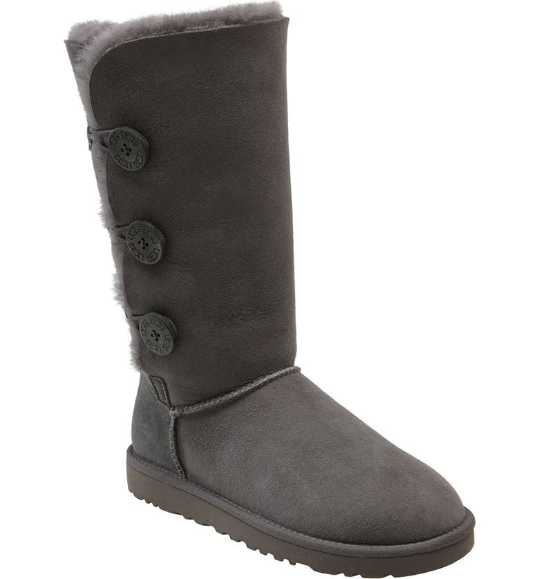 UGG<SUP>®</SUP> 'Bailey Button Triplet' Boot, Main, color, Grey