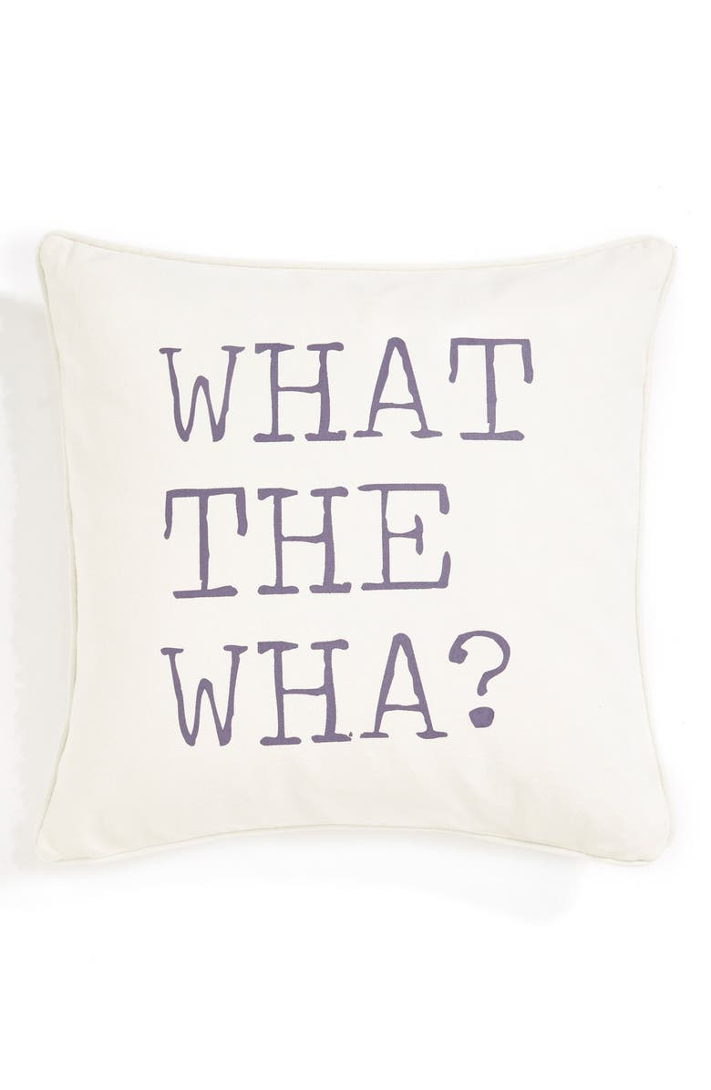 LEVTEX 'What the Wha?' Pillow, Main, color, 900