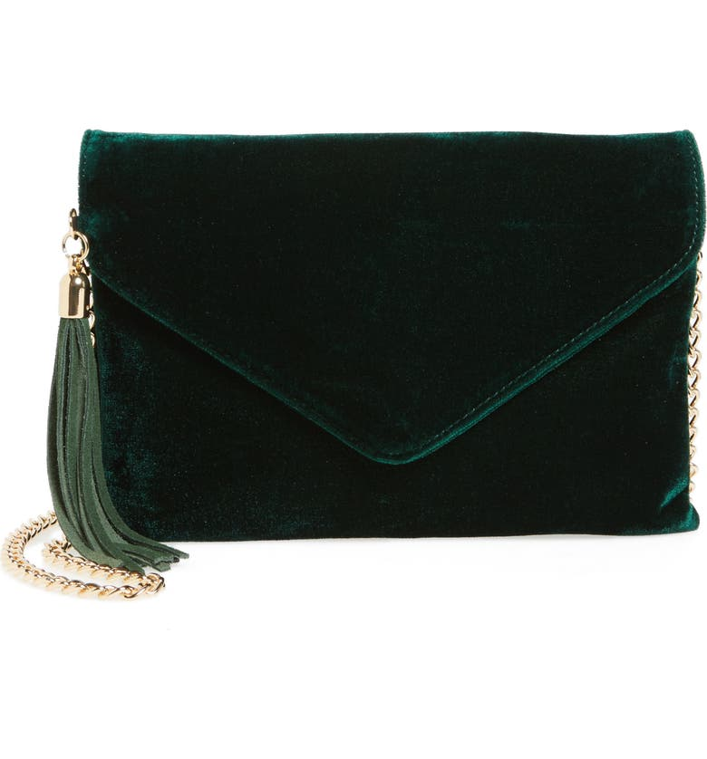 BP. Tassel Velvet Crossbody Bag, Main, color, 300