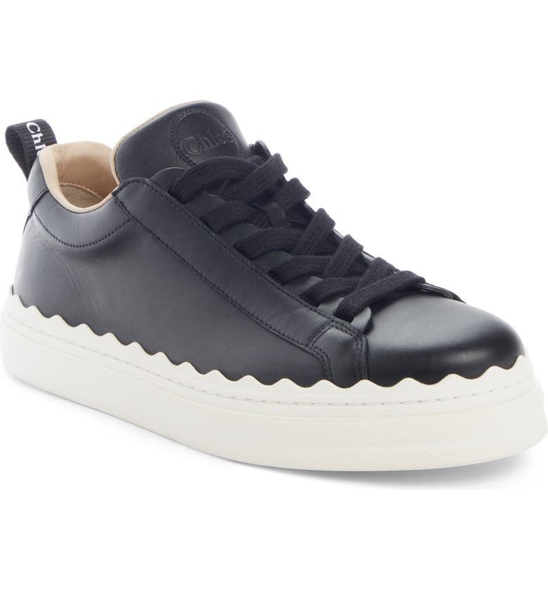 CHLOÉ Lauren Low Top Sneaker, Main, color, BLACK