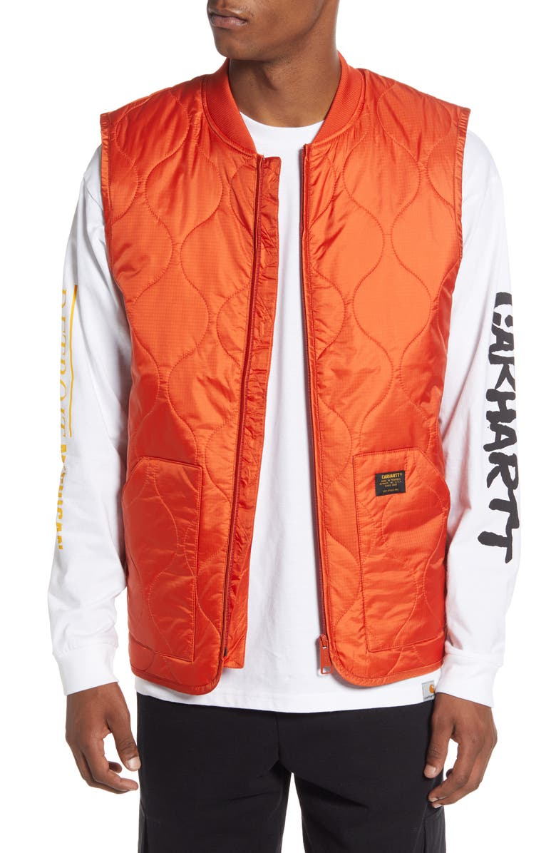 CARHARTT WORK IN PROGRESS Volta Quilted Vest, Main, color, 840