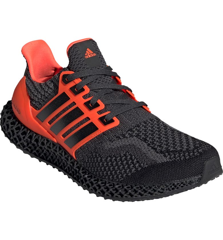 ADIDAS Ultra4D Running Shoe, Main, color, BLACK/ RED