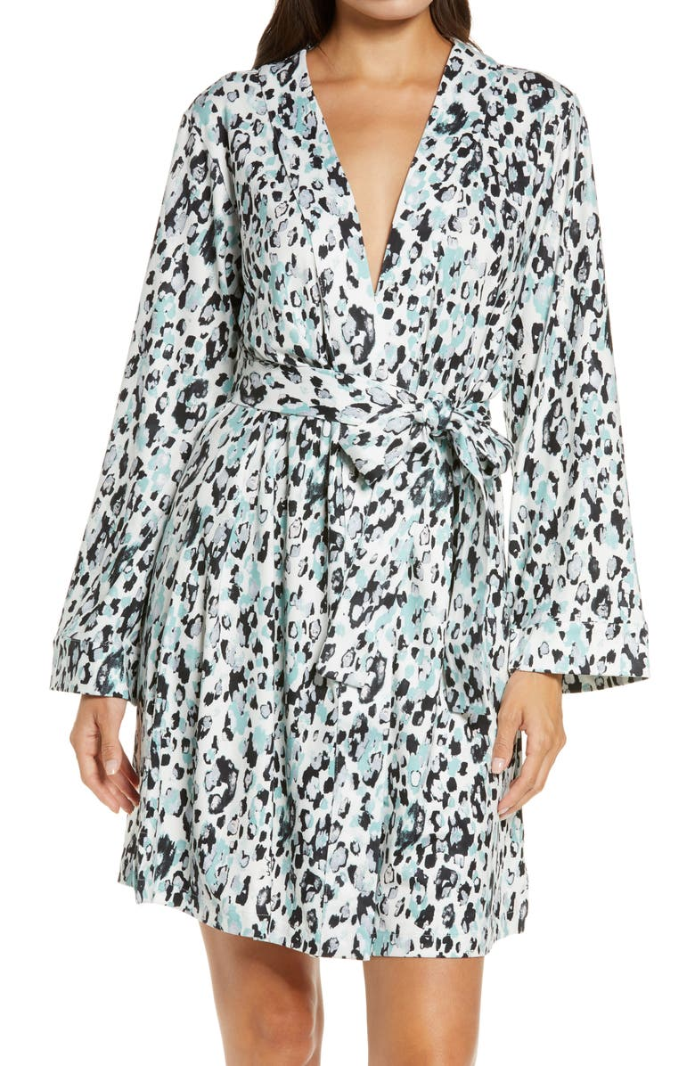 MASONGREY Claire Classic Short Robe, Main, color, FROST STAMPED