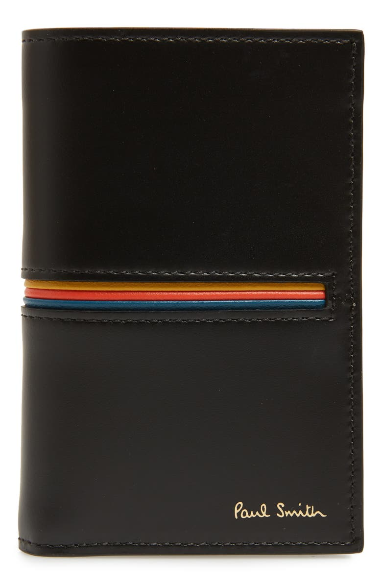 PAUL SMITH Flip Leather Card Case, Main, color, 001