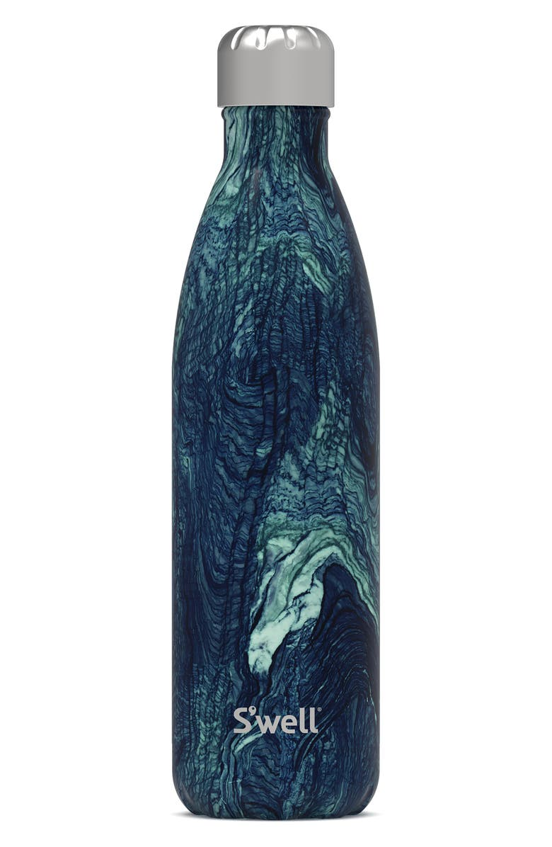 S'WELL Azurite Marble 25-Ounce Insulated Stainless Steel Water Bottle, Main, color, AZURITE MARBLE