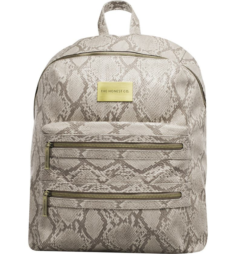 THE HONEST COMPANY 'City' Faux Leather Diaper Backpack, Main, color, 020