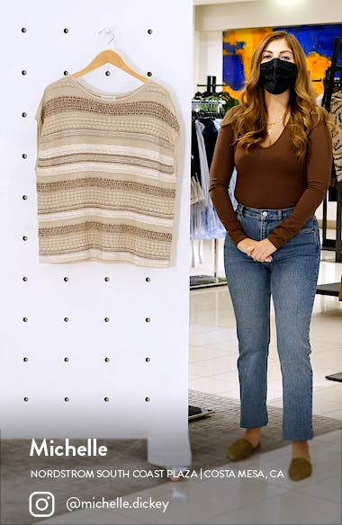 Mixed Stitch Sequin Sweater, sales video thumbnail