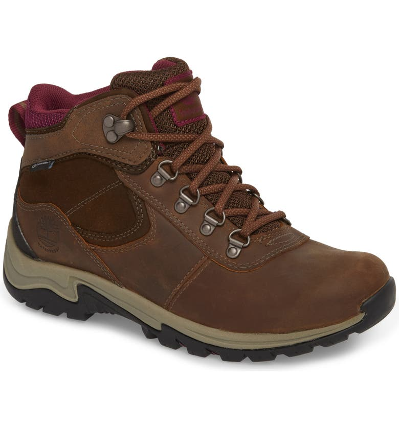 TIMBERLAND Mt. Maddsen Waterproof Hiking Boot, Main, color, MEDIUM BROWN LEATHER
