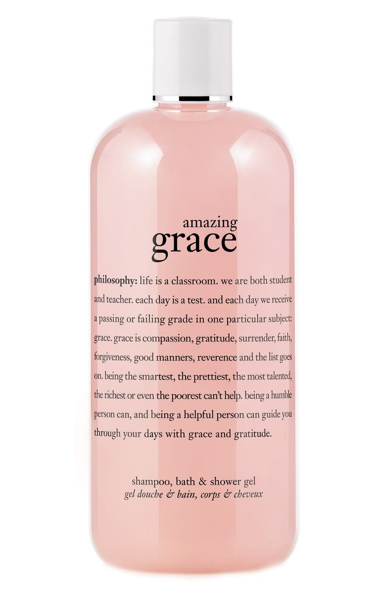 PHILOSOPHY 'amazing grace' shampoo, bath & shower gel, Main, color, 000