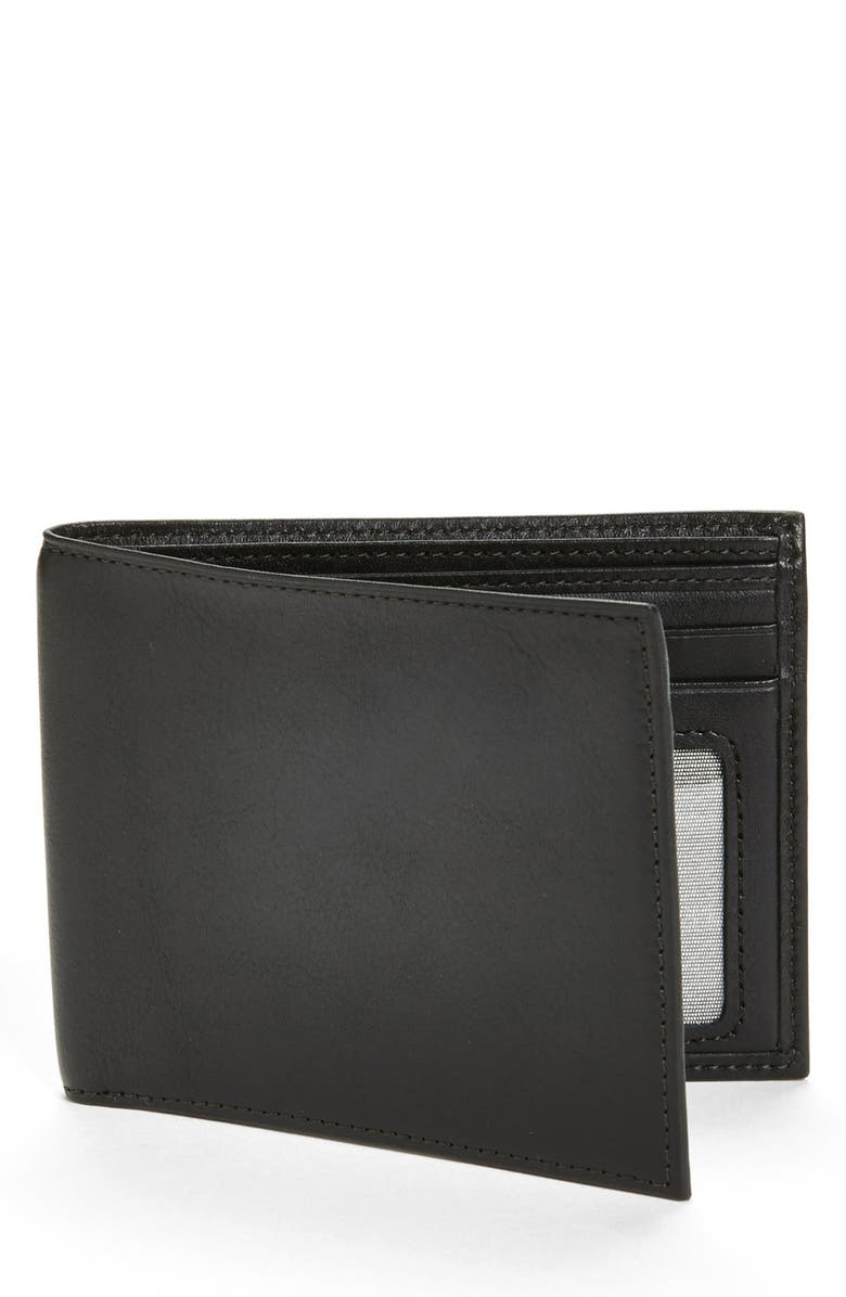 BOSCA 'Executive ID' Nappa Leather Wallet, Main, color, BLACK