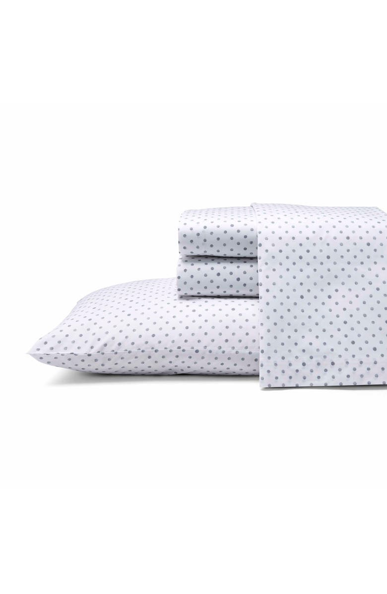 ED ELLEN DEGENERES Watercolor Dots 200 Thread Count Sheet Set, Main, color, 020