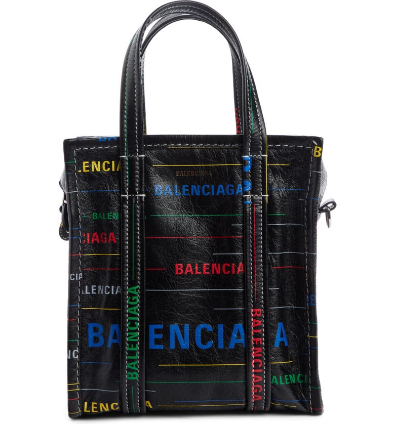BALENCIAGA Extra Extra Small Bazar Leather Shopper, Main, color, 006