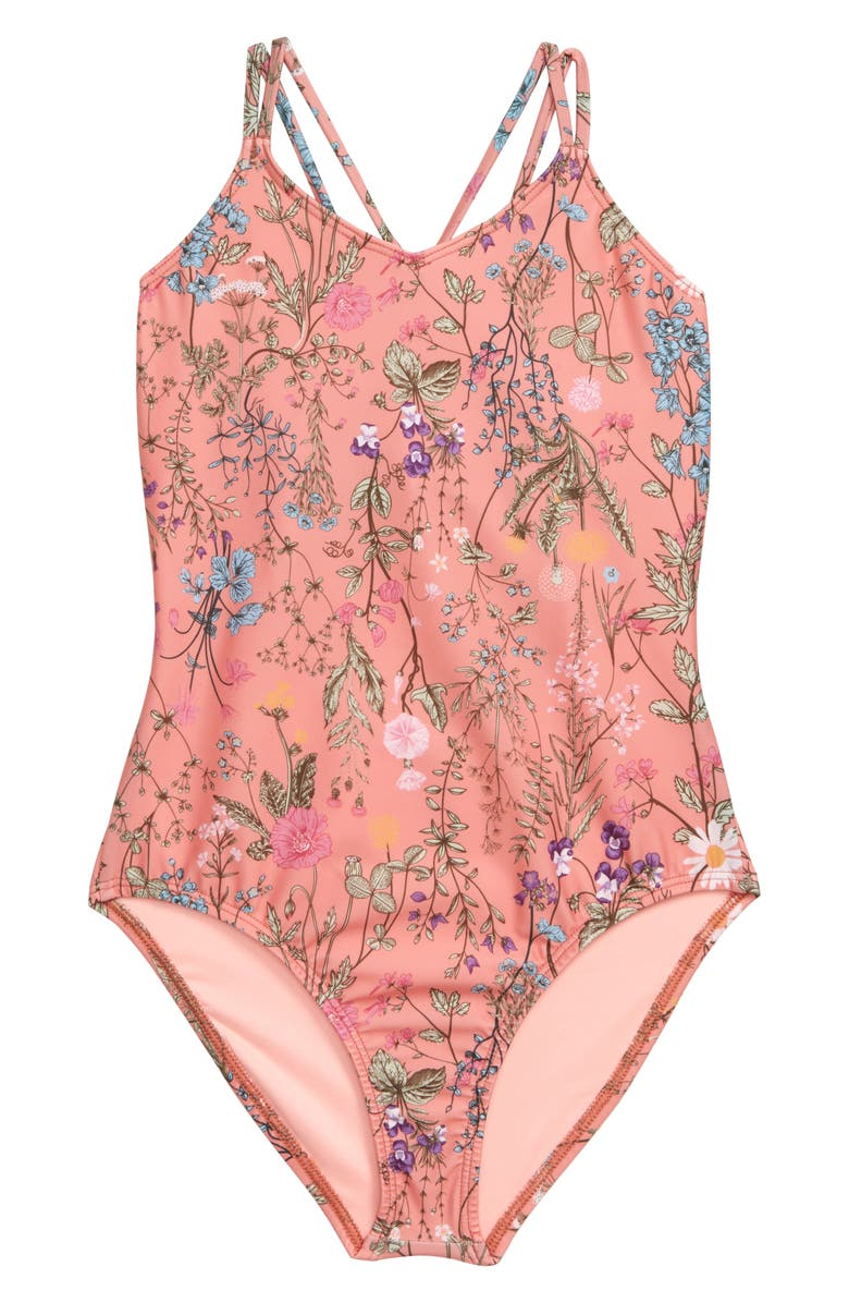 HEART AND HARMONY Botanical One-Piece Swimsuit, Main, color, 211