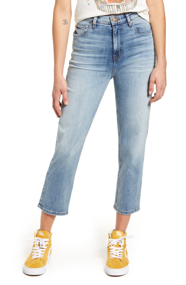 STS BLUE Avery High Waist Crop Straight Leg Jeans, Main, color, 430
