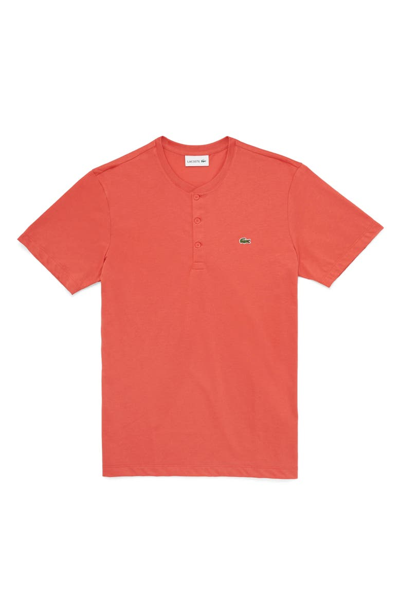 LACOSTE Regular Fit Henley T-Shirt, Main, color, CRATER