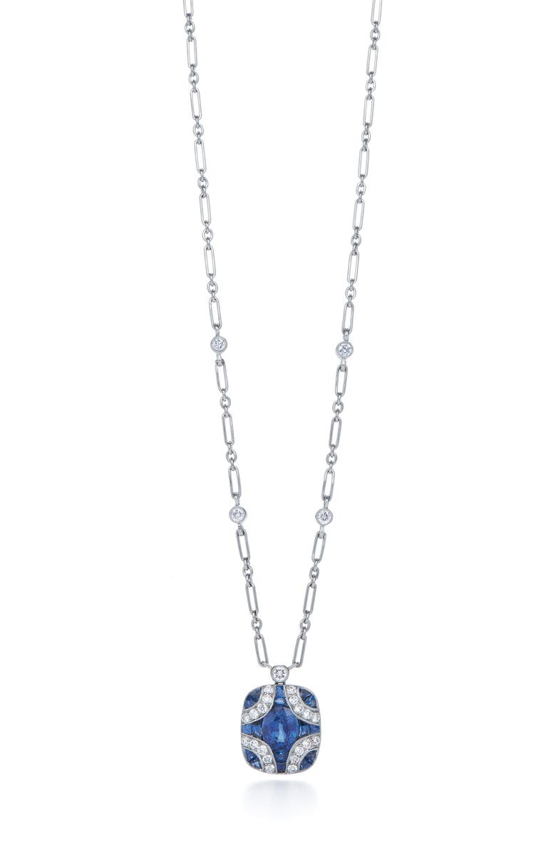 KWIAT Diamond & Sapphire Pendant Necklace, Main, color, 711