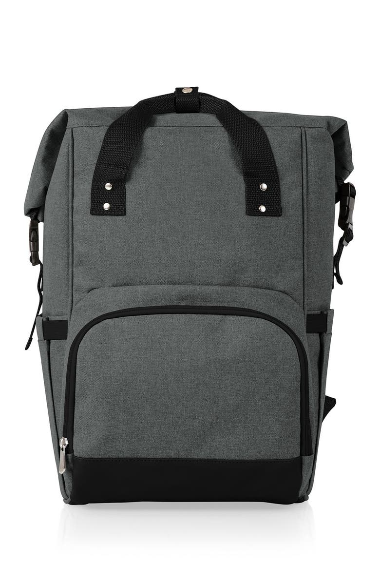 PICNIC TIME OTG Roll-Top Cooler Backpack - Heathered Gray, Main, color, GREY
